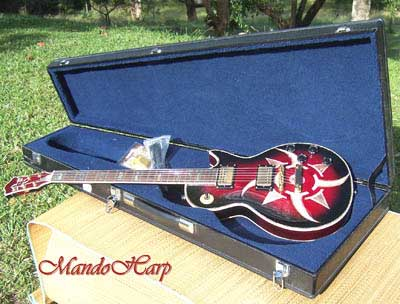MandoHarp - 'Rotor' Hand-Made Inlaid 6-String Les Paul-Style Electric Guitar