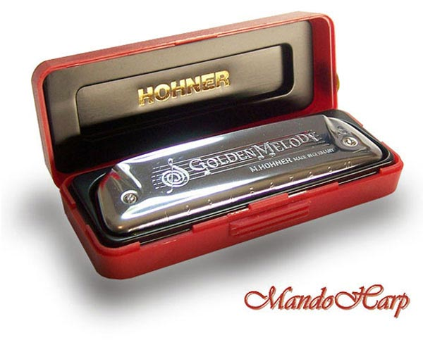 Key of A Hohner Golden Melody Harmonica