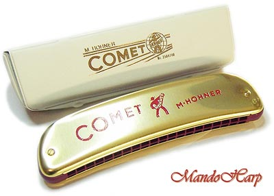 MandoHarp - Hohner Octave Harmonica - 2504 Comet 40
