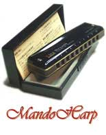 MandoHarp - Rockbag Harmonica Bag - RB10300B Gigbag for 12 Blues Harmonicas